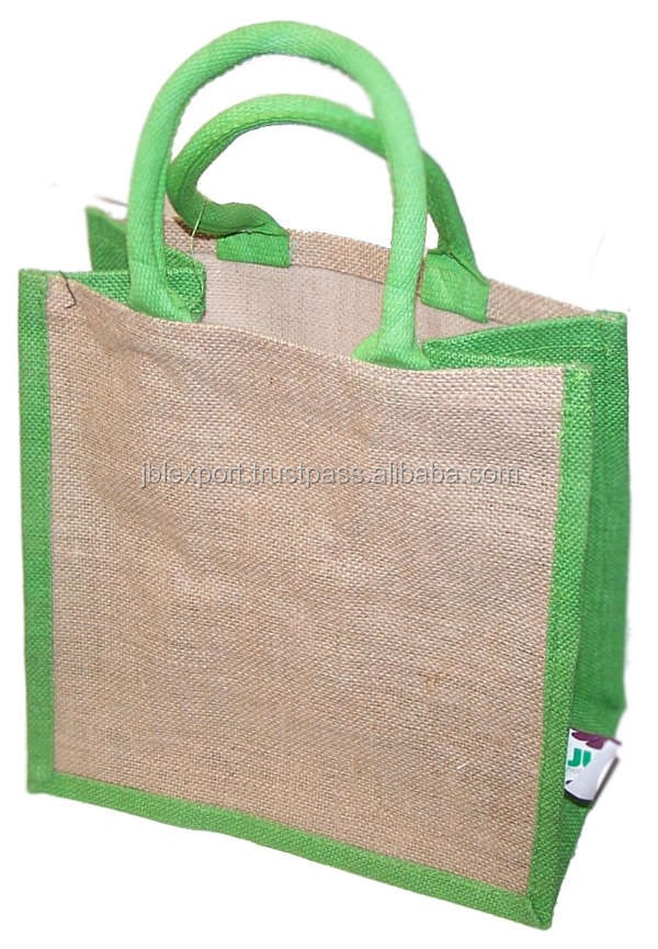 2016 Plain foldable Jute bag Alibaba shopping bag