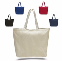 Large heavy canvas bag with velcro closure