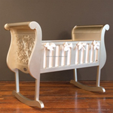luxury furniture in stock wooden baby cradle