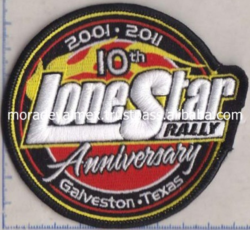 Embroidery Patch Merrowing Edged Embroidery Design 3D Embroidery Patches