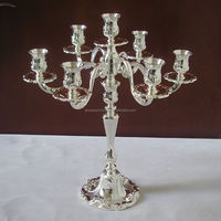 7 lights silver plated wedding candelabra