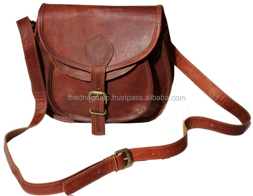 Beautifully Handcrafted Women Cross-body Leather Bag