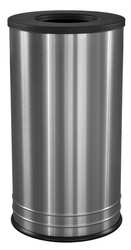 Open-Top Trash Can Round Stainless Steel