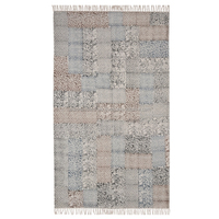 Traditional beautiful Indian Hand made 100% washable wooven Block printed 4x6 Ft Carpet Rug