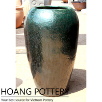 Beautiful Tall Metallic Glazed Pottery, Flower Pots/Planters Outdoor