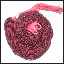 SUPERB QUALITY RHODOLITE GARNET GEMSTONE FACETED RONDELLE BEADS