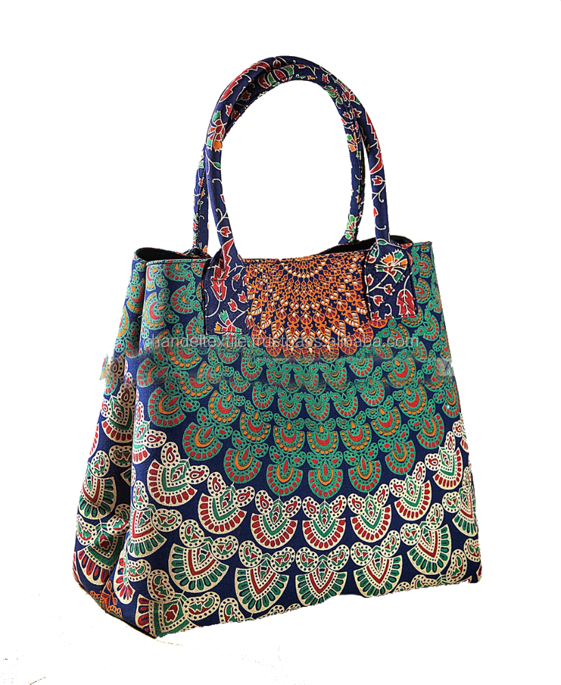 Mandala Handmade Mandala Bag Ladies Tote Purse Carry Hand bag handmade mandala tote bag Women Shoulder Messenger Indian