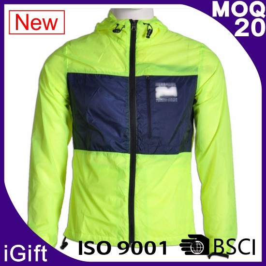 BSCI Nylon Lightweight Pullover Breathable for Bicycle Windbreaker
