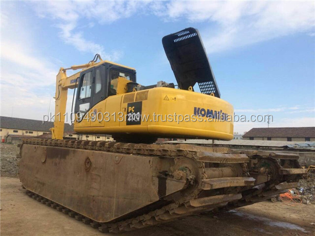 japan used amphibious excavator, used komatsu /Hitachi amphibious excavators for sale