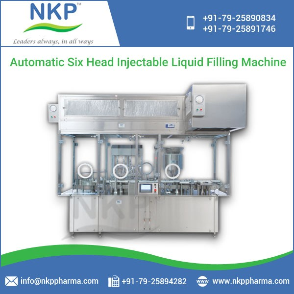 Trusted Supplier of Premium Quality Injectable Liquid Filling Machine at Low Cost