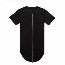 elongated t shirt with long zipper on Back side