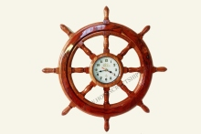 STEERING WHEEL CLOCK - HANDICRAFT PRODUCT, SPECIAL DECORATION