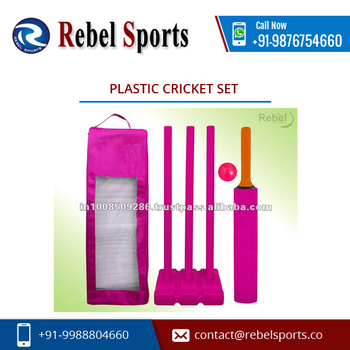 Custom Size High Quality Plastic cricket set for Sale at Attractive Price