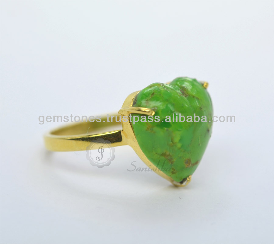 925 Sterling Silver Vermeil Gold Plated New Design Gemstone Bezel Rings Jewelry Manufacturer