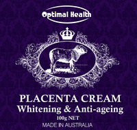 Optimal Health Placenta Cream with Lanolin, collagen (Made in Australia) Face Whitening & Anti-ageing formula