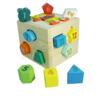 multi-colored painted Wood Brick Toy