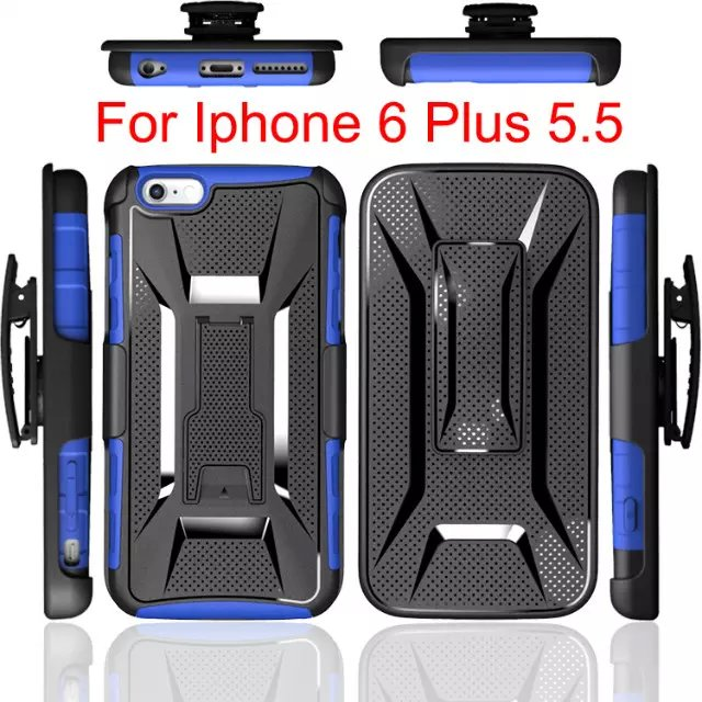 Hot Sale ! For Apple iPhone 6 Plus 6S Plus iPhone6 Plus Hybrid Hard Case Heavy Duty Silicone Combo Rubber Case Cover Robot