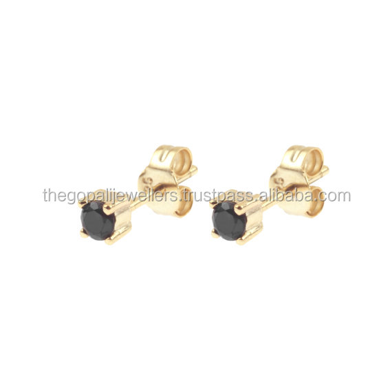 New Design Latest Design Modern Design Earring Stud new Black Onyx Stud Jewelry Cool Item