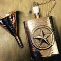 Pure Copper Whiskey Bottle | Hip Flask Pocket Bottle | Copper Hammered Wine Flask Bottle