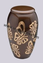 Fancy Metal Urns Used For Ceramation And Antique Metal Brass Urns