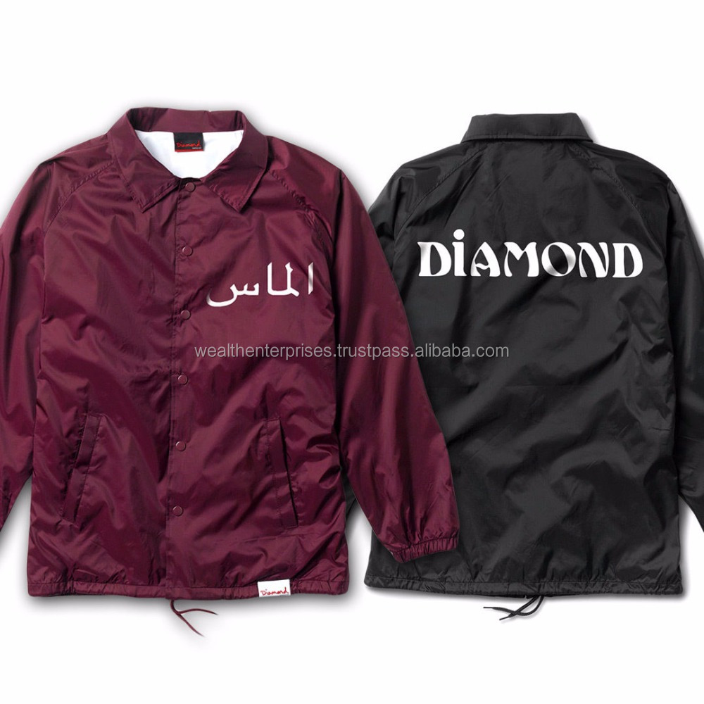 Custom 3 Color 3 panel pull over coach jacket