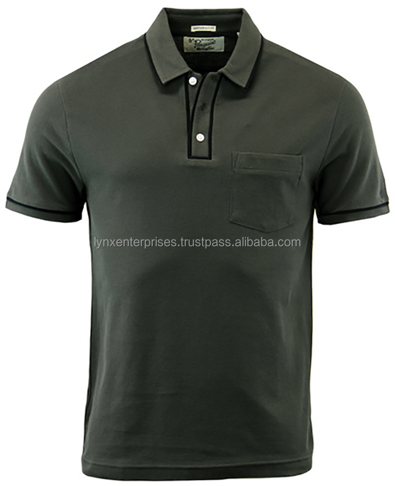 100 cotton pocket polo shirts / Polo Shirt with Pocket / High Quality Men's Golf Polo Shirts With Pocket