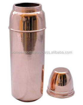 Copper Thermos Design Water Bottle for good Health | 100% Copper Bottle 900 ml