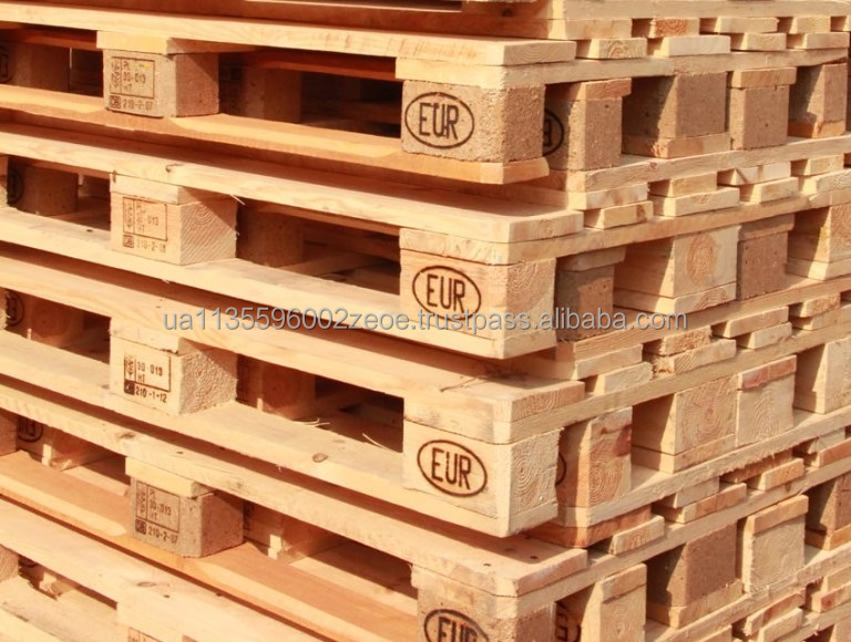 Cheap price Euro size stackable wood / wooden pallet made in Ukraine