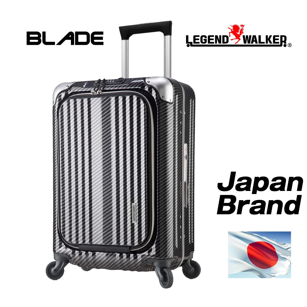 100% PC body and Japan brand trolley handle with protect cover suit case with multiple functions
