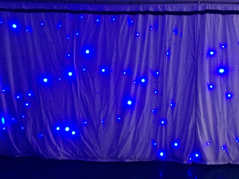 stage curtains led solar curtain lights