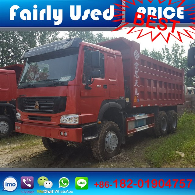 Wholesale left hand drive 6x4 manual diesel engine used Howo 336 dump truck of Howo 336 tipper truck