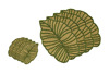 New Luxury Green Glass Beaded Wedding Dining Table Placemats Charger Plates Leaf SHaped 8 Pcs Set