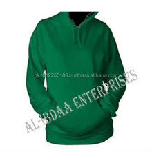 Custom High Quality Blank Fleece Cotton Pullover Hoodie / Green Hoodie