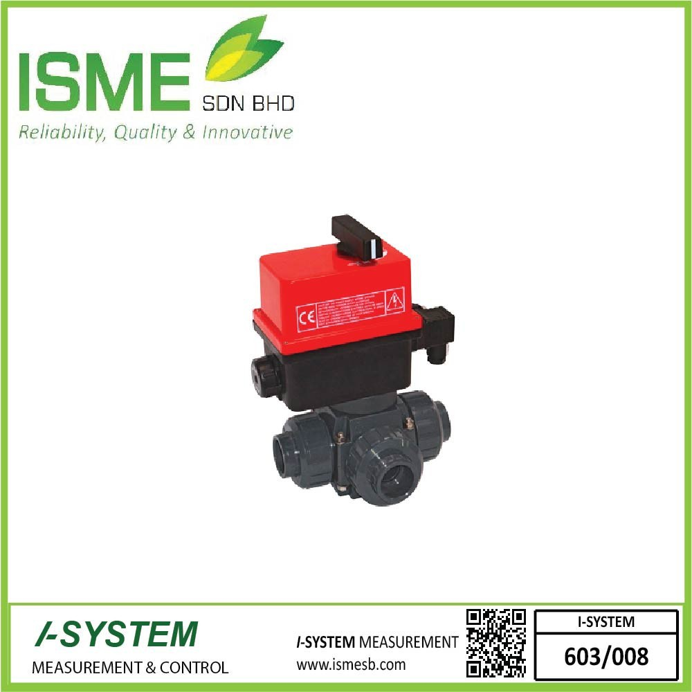 VE3V S4-PVC, Electrically actuated 3-way ball valves
