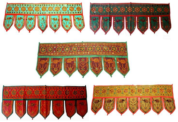 Door Hangings Wholesale Home Decorative Elephant Design Embroidered Window Valence Door Hanging Wholesale