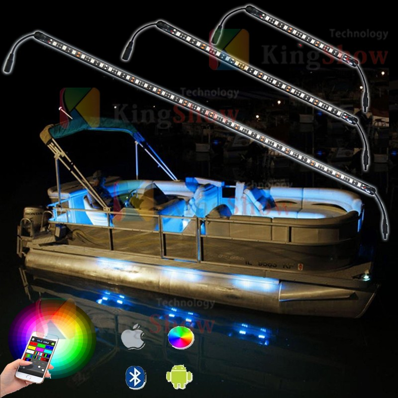 6pc LED Wireless Music Control Million Color waterpoof ultrathin pvc Marintime strips Light