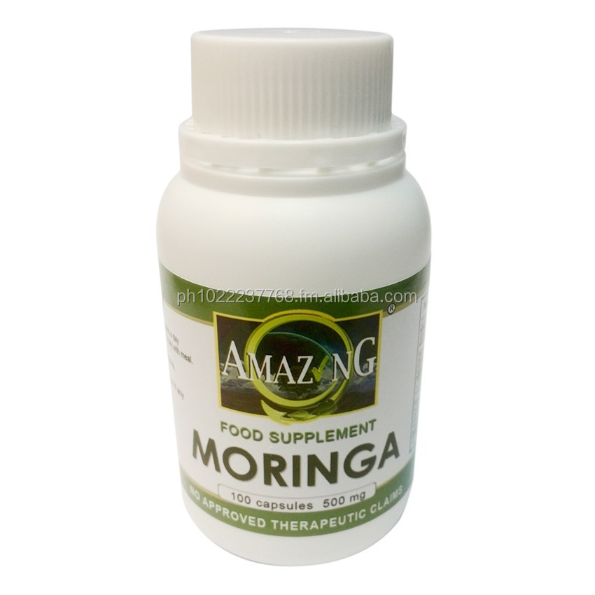 Amazing Moringa 500mg Leaf Powder Capsule