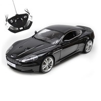 Rastar Licensed Aston Martin DBS with Remote Controlled Battery Operated RC Toy Racing Model Car Diecast 1:10 Scale Black