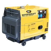 Mayerskraft MKDF6000LDE Diesel Power Generator, 5200 Watt rated power