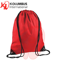 Red Gym Sack Bag, Bagbase Premium Gym Sack Multi-Purpose Drawstring Bag Waterproof, All Colors And Various Sizes Available