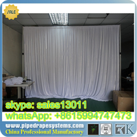 hot selling backdrop pipe and drape for wedding/portable pipe and drape/adjustable pipe and drape TUV certificate