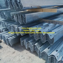 Guard rail beams posts spacers fishtail bolts UAE OMAN BAHRAIN KUWAIT - DANA STEEL