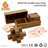 Doubble Soma and Card Wooden Educational Toys