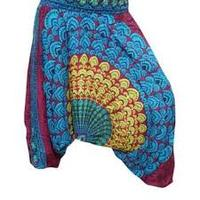 INDIAN ALI BABA HAREM YOGA MEN WOMEN TROUSER BAGGY BOHO PANTS GYPSY AFGANI JUMPSUIT