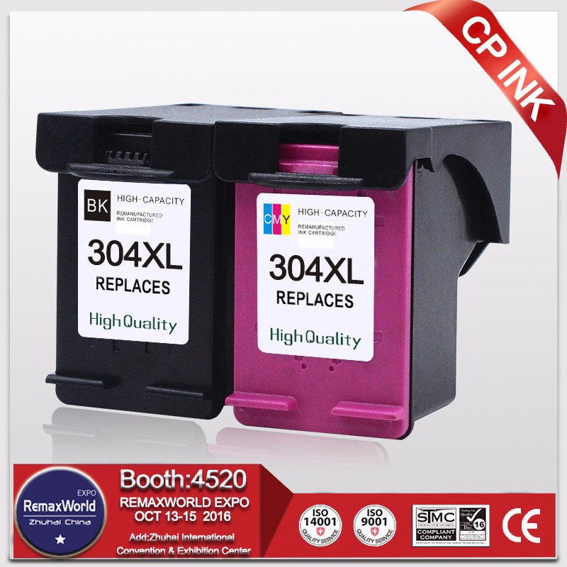 for HP DeskJet 3720 printer ink cartridge 304XL for hp 304 replace ink cartridge