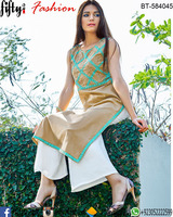 Indian Casual Cotton Ethnic Designer Kurti Kurta Top Embroidery Tunic Dress