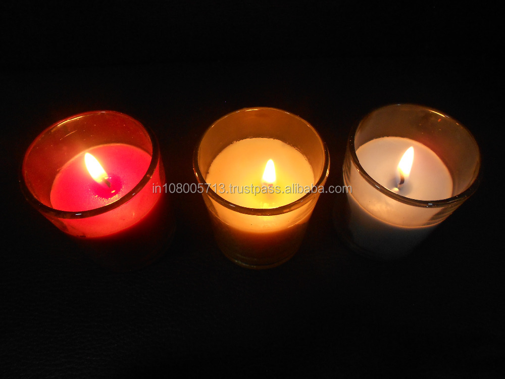 Mix Fragrance Scented Glass Jar Candles 10 Hour Burning Capacity Each
