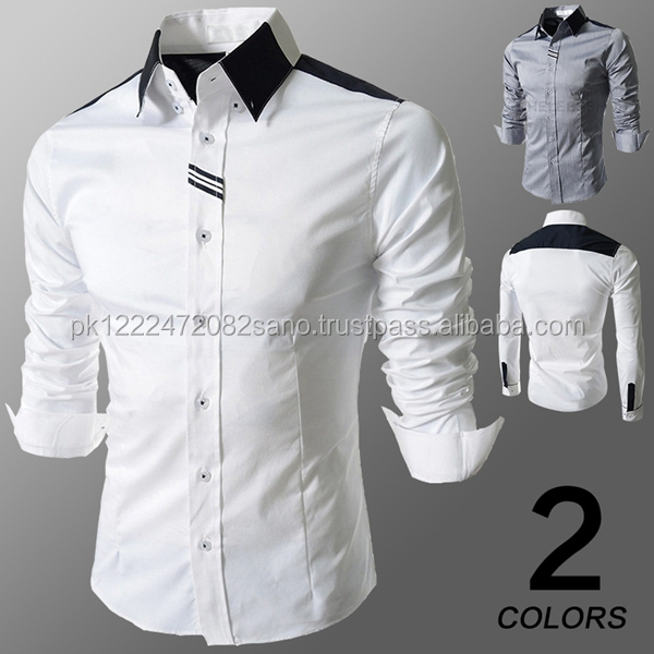 New Fashion men long sleeve slim stylish Dress Shirts