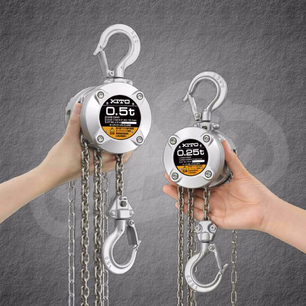 Durable lifting equipment KITO Chain hoists CX series for Professional , Other products of KITO also available