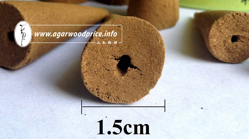 Nhang Thien - Grade A agarwood cone incense 601B, 100% natural material